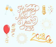 Gratis nytt år 2018 vektorer