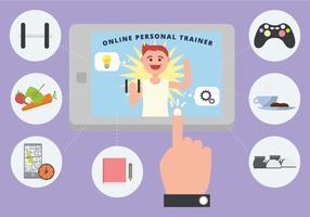 Online Personlig Trainer Vector