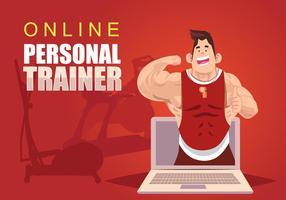 Online Personal Trainer Vektor