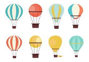 Kostenlose Heißluftballon-Auflistung Vektor