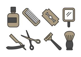 Barber shop ikon pack vektor