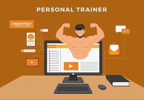 Personlig Trainer Digital Fri Vektor