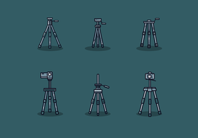 Gratis kamera stativ vektor