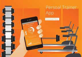 Personlig Trainer App Gratis Vector