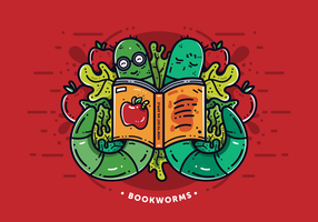 Freier Bücherwurm Vektor