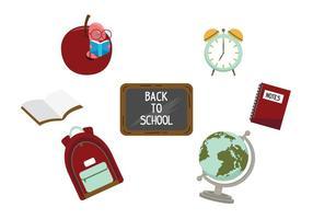 Zurück zu Schule Vektor