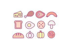 Vektor Essen Icons