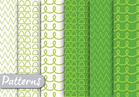 Grünes gezeichnetes Muster Set