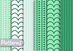 Grünes dekoratives Muster Set