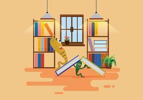 Free bookworm illustration vektor
