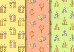 Gratis tappning födelsedagsfest mönster vektor