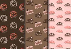 Gratis Vintage Sweets Patterns vektor