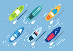Paddle Board Vektor