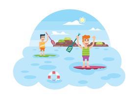 Paddle board activity illustration vektor