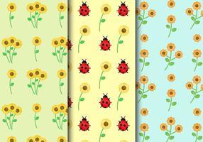 Freie Weinlese-Blumenmuster