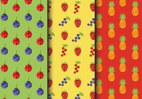 Gratis Vintage Fruit Patterns vektor