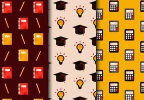 Freie Weinlese-Schule-Element-Muster