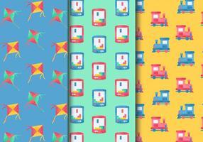 Free Vintage Kinder Spielzeug Patterns vektor