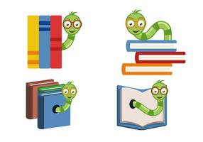 Bücherwurm Vektoren