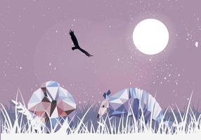 Armadillos Låg Poly Illustration Vektor