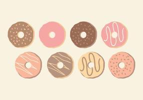 Vektor Söt Hand Drawn Donuts