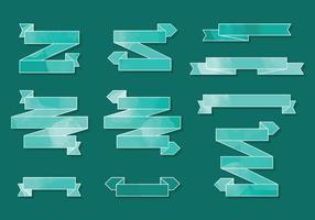 Vector Green Aquarell Bänder