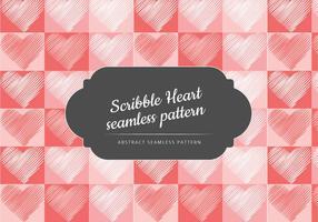 Vektor scribble hjärta sömlösa mönster