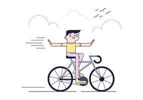Gratis cykel Ride Vector