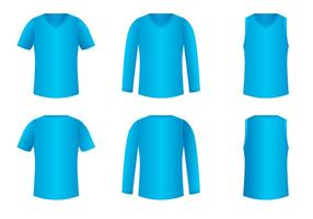 V-halsskjorta mall Gratis vektor