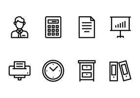 Bürokontosymbol vektor
