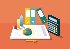 Buchhaltung Vektor Design