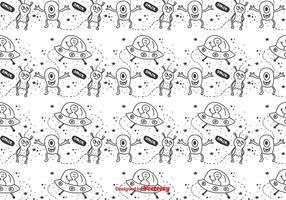 Rymd utomjordingar vektor mönster