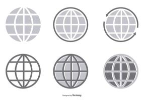 Vektor globe ikon samling
