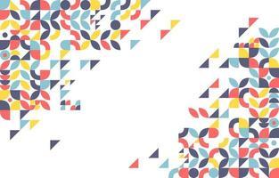 bunter geometrischer Hintergrund vektor