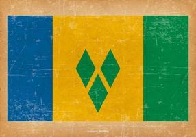 Grunge Flagge von St. Vincent und die Grenadinen