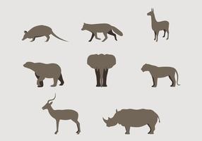 Wild Silhouette Tiere Logos vektor