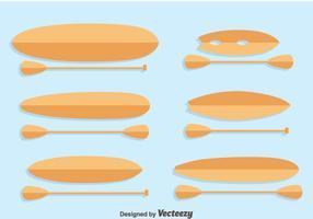 Paddleboard samlingsvektor vektor