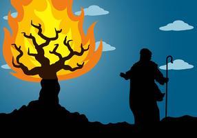 Burning Bush Bakgrund Vector