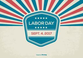 Retro Labor Day Bakgrund vektor