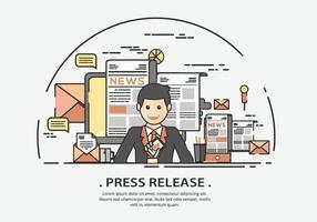 Presenter auf Pressemitteilung Vektor-Illustration