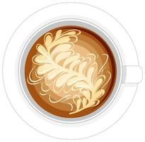 isolerad kopp kaffe logotyp på vit bakgrund