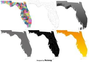 Vektor uppsättning av Florida karta