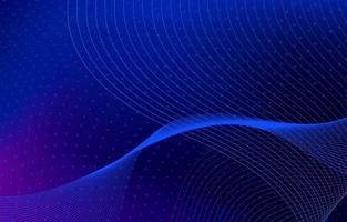 Wellenförmiger gepunkteter Linien blauer Hintergrund vektor