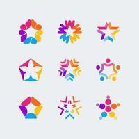 kreatives abstraktes Sternlogo-Konzept vektor