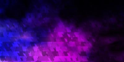 dunkelrosa, blauer Hintergrund mit Linien, Dreiecken.