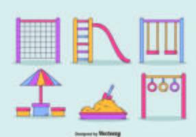 Handdragen lekplatselement vektor