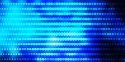 mörkrosa, blå bakgrund med cirklar.