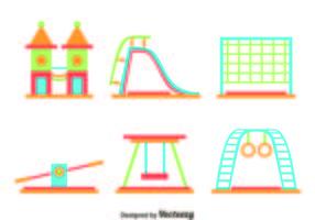 Platt lekplats element vektor