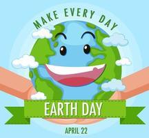 mache jeden Tag Tag der Erde vektor
