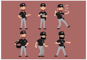 Free Baseball Schiedsrichter Charakter Vektor
